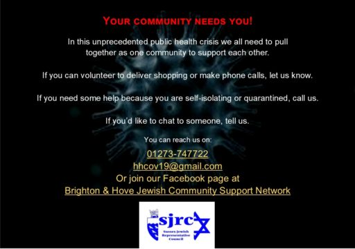 Brighton & Hove Jewish Community Support Network